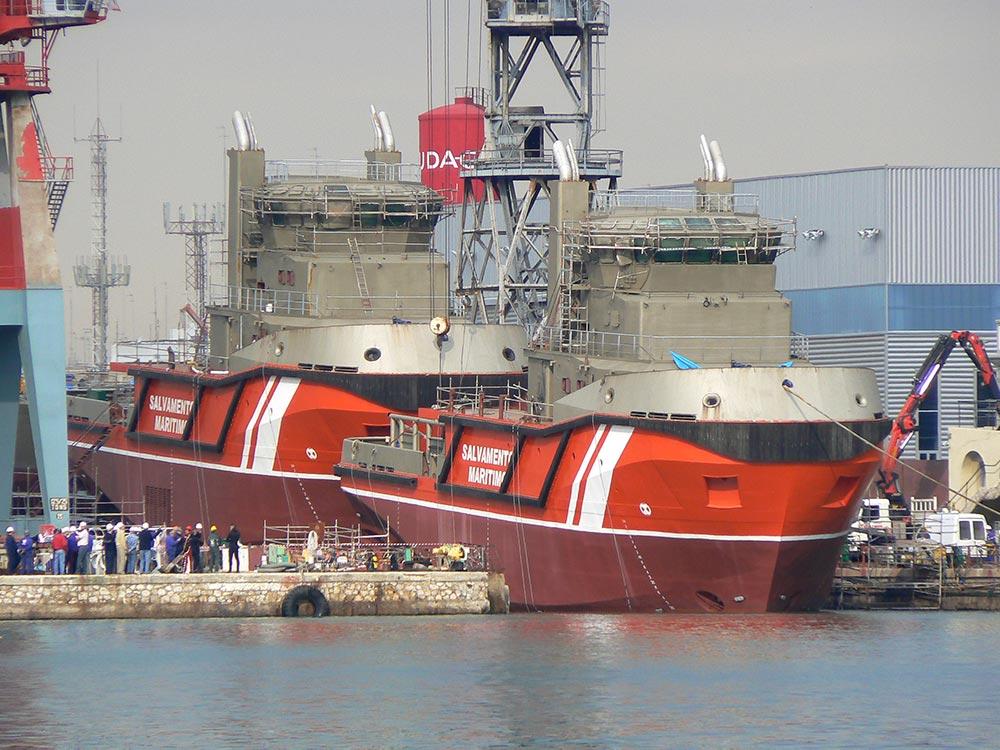 calderería en astilleros navales