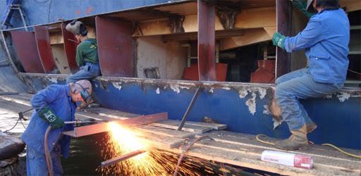 montaje de estructuras navales
