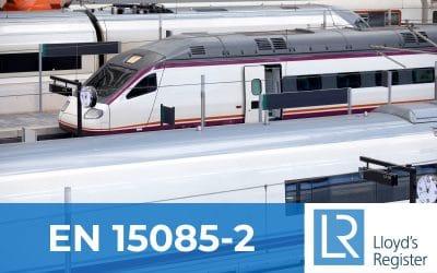 Soldaval cuenta con la certificación EN 15085-2, para aplicaciones ferroviarias, soldeo de vehículos y componentes ferroviarios.