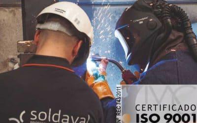 Certificación ISO 9001, garantía de calidad en Soldaval